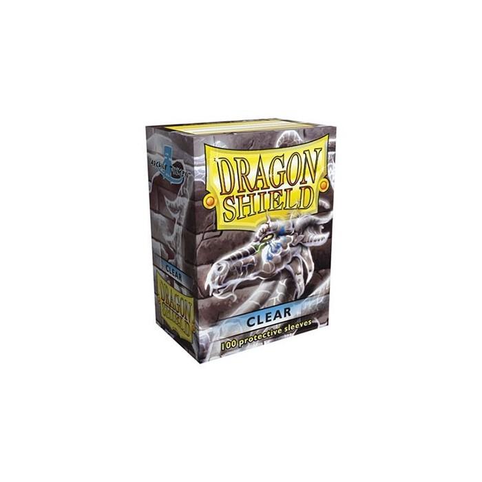 Protector de cartas Dragon Shield 100- Standard Transparente