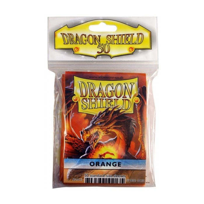Protector de cartas Dragon Shield 50- Standard Naranjo