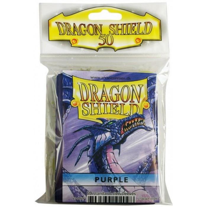 Protector de cartas Dragon Shield 50- Standard Morado
