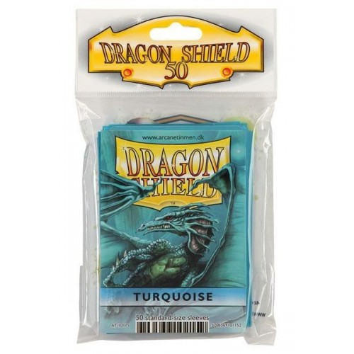 Protector de cartas Dragon Shield 50- Standard Turquesa