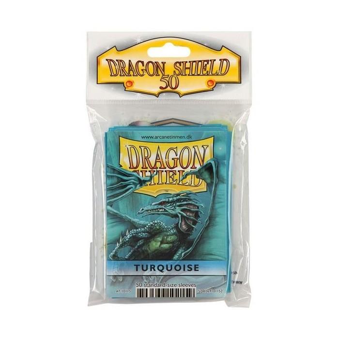 Protector de cartas Dragon Shield 50- Standard Turquesa