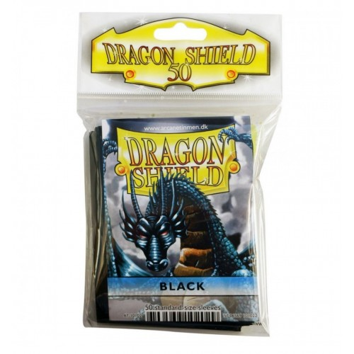 Protector de cartas Dragon Shield 50- Standard Negro