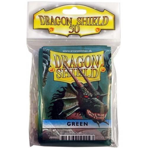 Protector de cartas Dragon Shield 50- Standard Verde