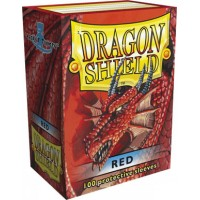 Protector de cartas Dragon Shield 100 - Standard Rojo
