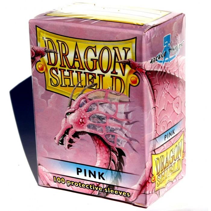 Protector de cartas Dragon Shield 100 - Standard Rosado
