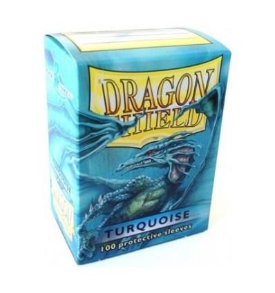 Protector de cartas Dragon Shield 100- Standard Turquesa