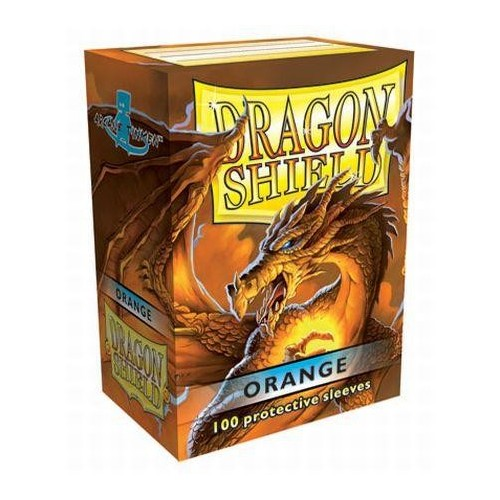 Protector de cartas Dragon Shield 100- Standard Naranjo