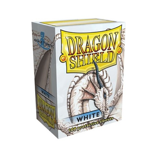 Protector de cartas Dragon Shield 100- Standard Blanco