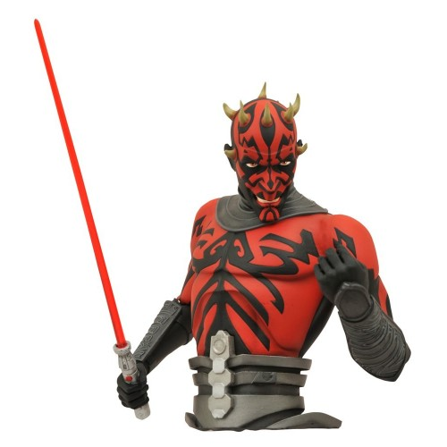 Figura Darth Maul Bust Bank Posable