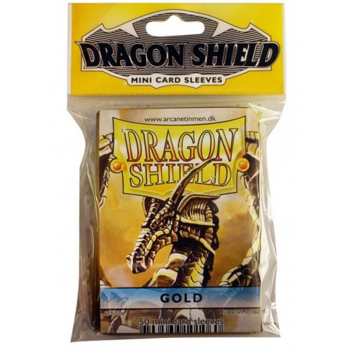 Protector de cartas Dragon Shield 50 - Mini Amarillo