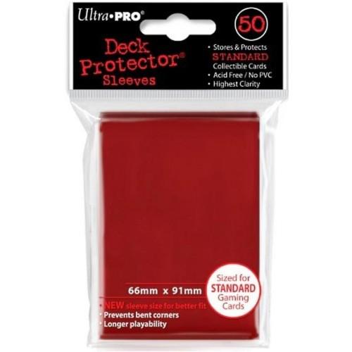 Protector de Cartas Ultra Pro 50 - Standard Rojo