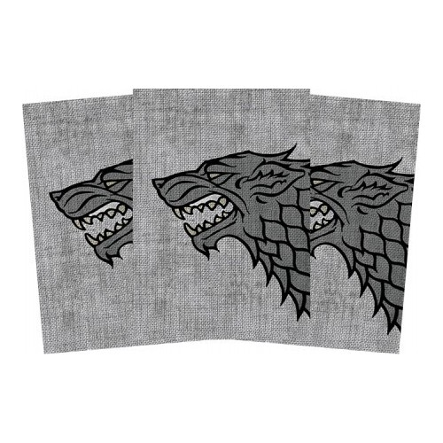 Protector de Cartas Game of Thrones Casa Stark 50 - Standard