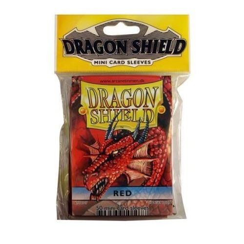 Protector de cartas Dragon Shield 50 - Mini Rojo