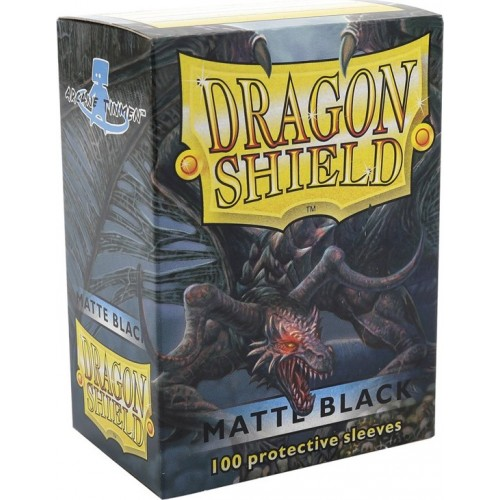 Protector de cartas Dragon Shield 100 - Standard Matte Black