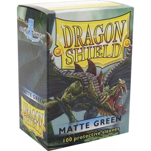 Protector de cartas Dragon Shield 100 - Standard Matte Green