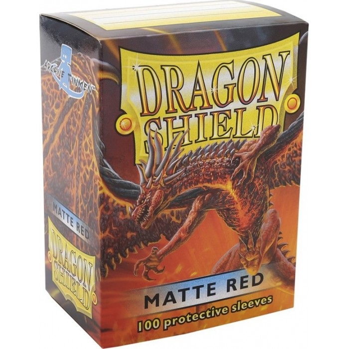 Protector de cartas Dragon Shield 100 - Standard Matte Red