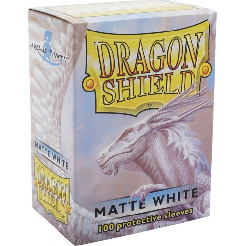 Protector de cartas Dragon Shield 100 - Standard Matte White