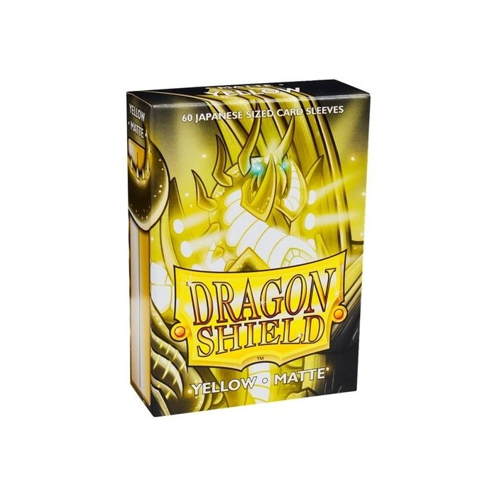 Dragon Shield Matte 60 Japanese Sized Yellow