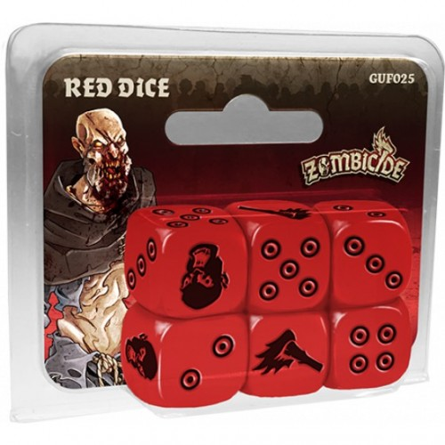 Zombicide Black Plage Red Dice