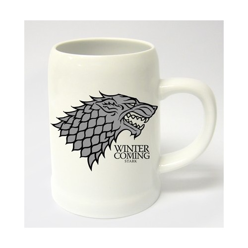 JARRA CERAMICA GAME OF THRONES WINTER IS COMING STARK