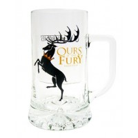 JARRA CERVEZA CRISTAL GAME OF THRONES OURS IS THE FURY BARATHEON
