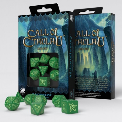 Call of Cthulhu Dice Set - Verde Claro