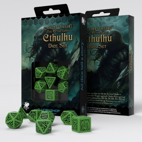 Call of Cthulhu - Cthulhu Dice Set - Verde Oscuro