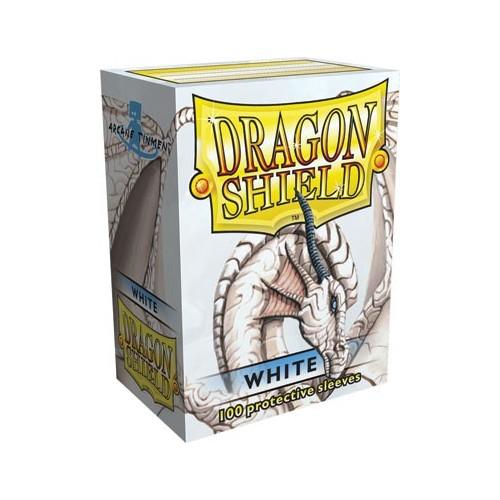Protector de cartas Dragon Shield 100- Standard Blanco